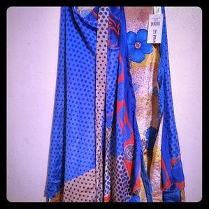 Sari silk ankle length wrap skirt.